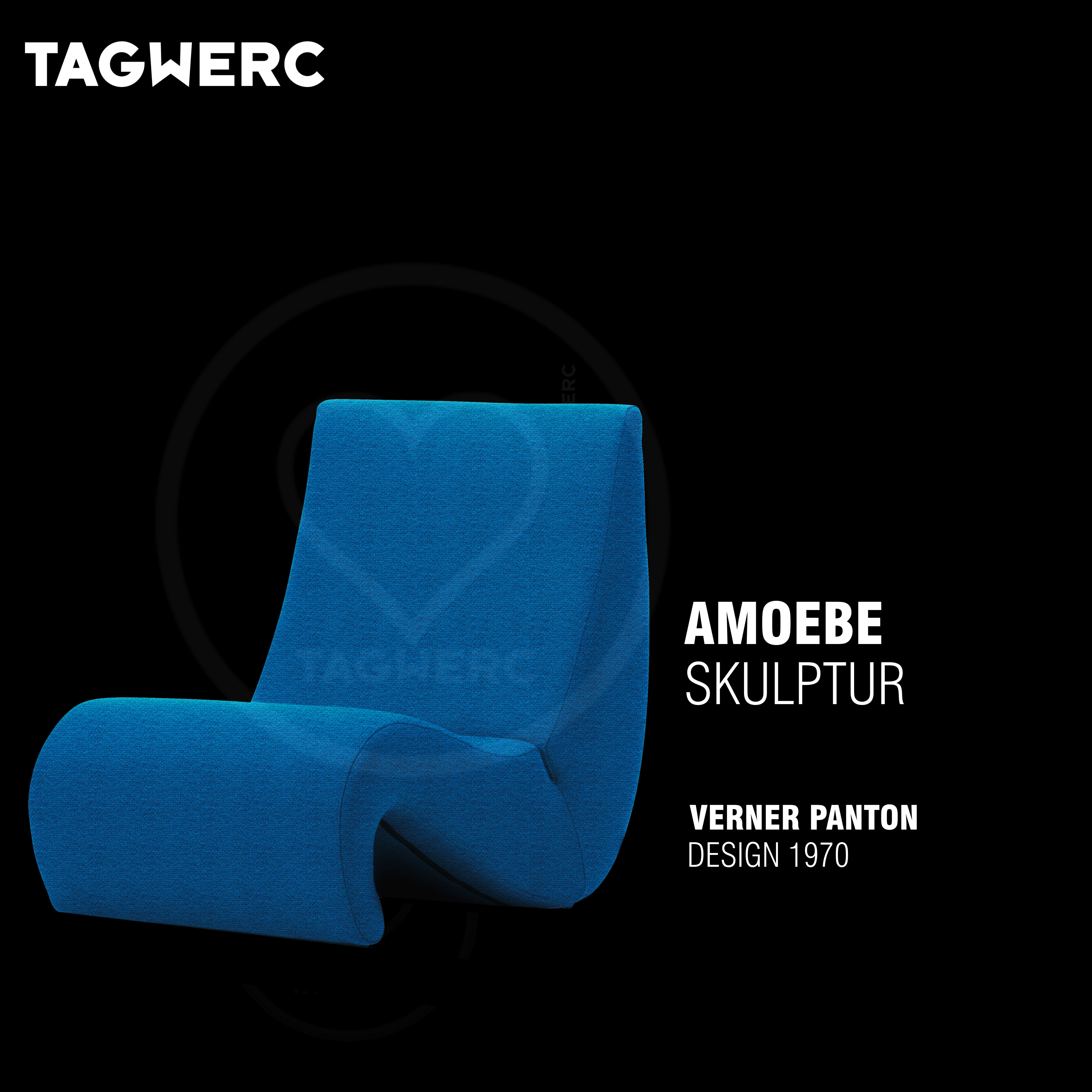 Vitra Amoebe Loungesessel Stuhl Stoff Tonus Verner Panton